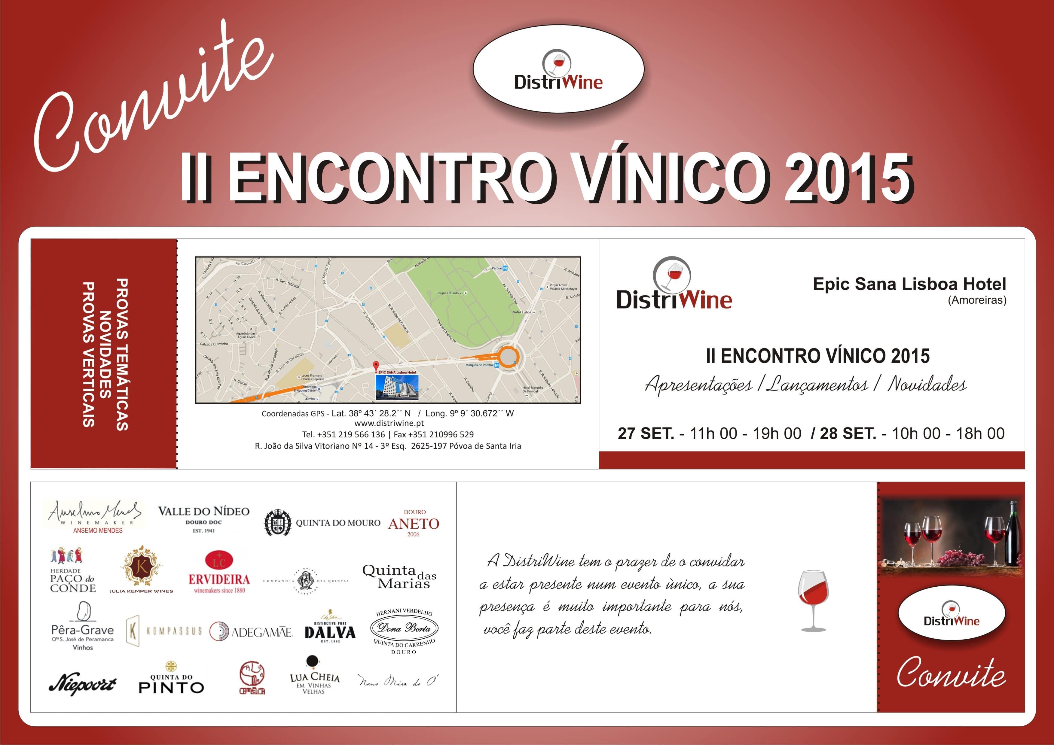 Convite EVENTO DISTRIWINE - Epic Sana Lisboa Hotel (junto Amoreiras) - 27 SET + 28 SET - Cópia