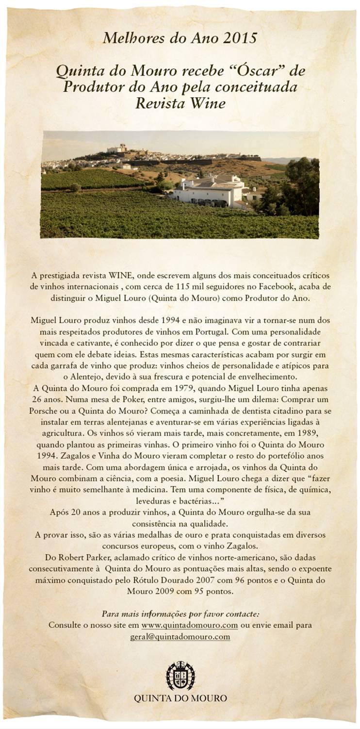 Revista Wine - Produtor do Ano